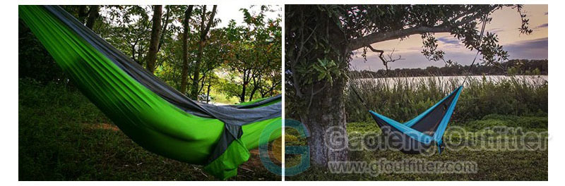 Good Quality Nylon Fabric Outside Hammock Camping