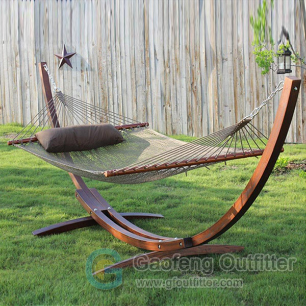 Hammock With Wooden Stand For Camping