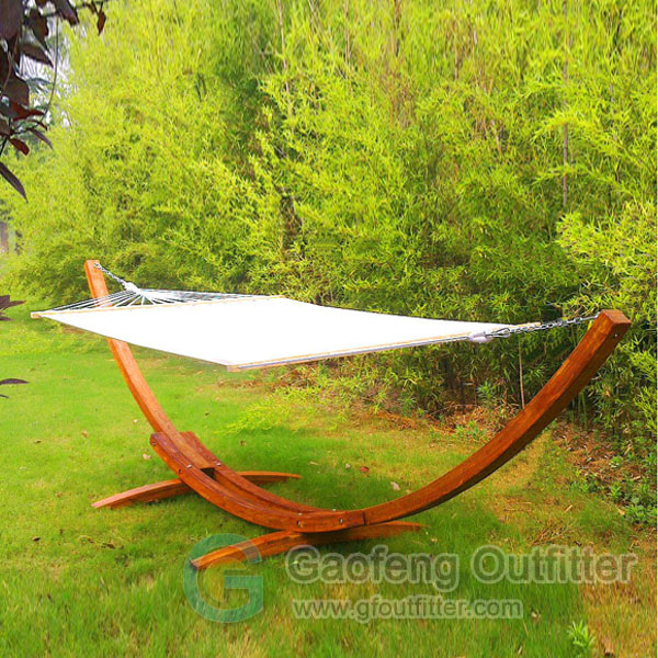 Hammock With Wooden Stand For Outdoor Camping
