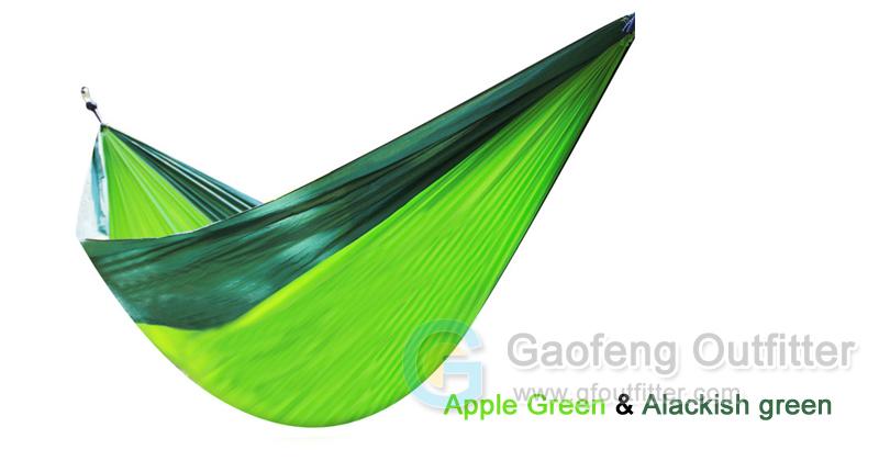 Apple Green and Alackish Green Splicing Hammocks