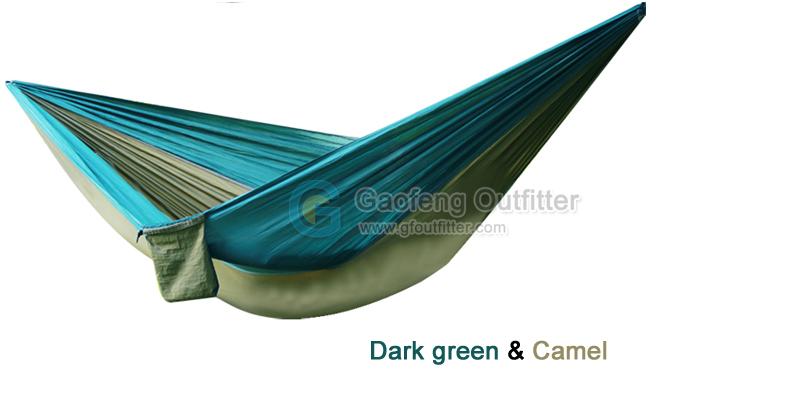 Drak green and Camel Splicing Hammocks