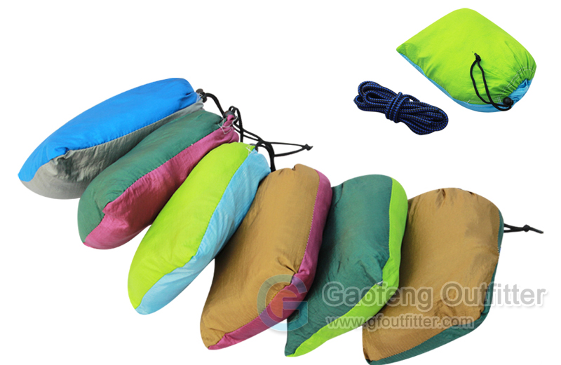 One Person Solid Colors Splicing Hammocks Bags