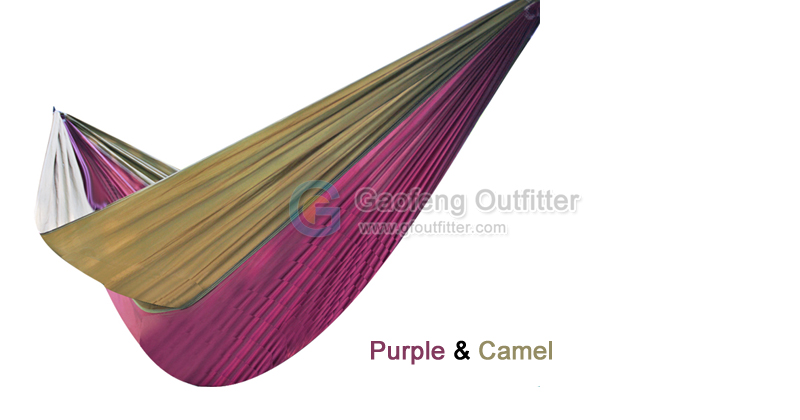 purple and camel splicing hammocks one person solid colors poly hammocks   gaofeng outfitter  rh   gfoutfitter