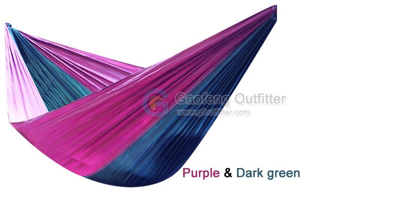 Purple and Dark Green Splicing Hammocks
