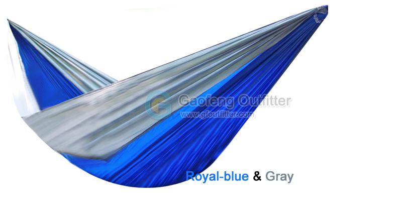 Royal-blue and Gray Splicing Hammocks