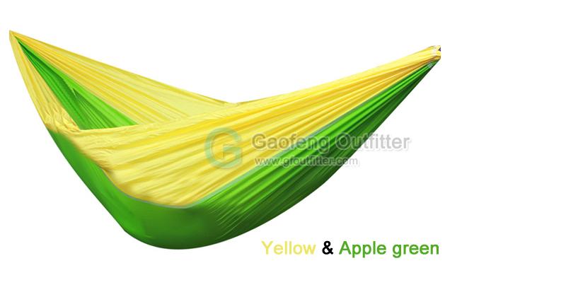 Yellow and Apple Green Splicing Hammocks