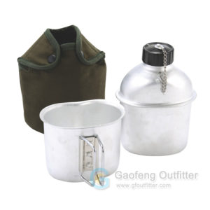 Military Camping Canteen Kit with Aluminum Cup