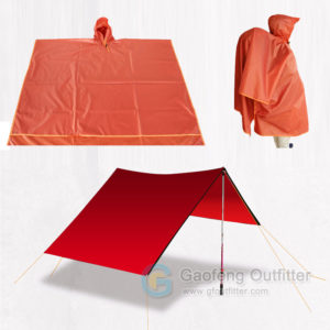 Waterproof Raincoat Shelter Tarp Beach Blanket 3 In 1