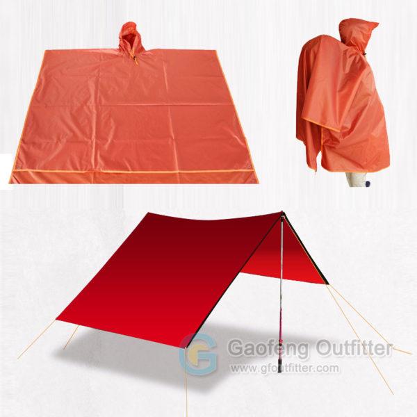 Waterproof Raincoat Shelter Tarp Beach Blanket 3 In 1