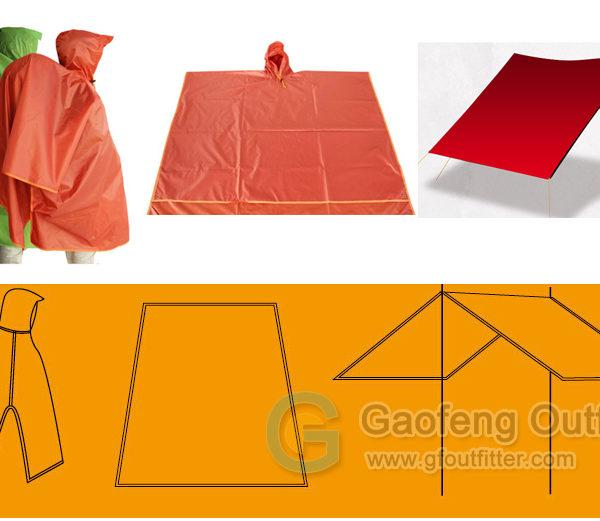 Waterproof with Rain Poncho for raincoat